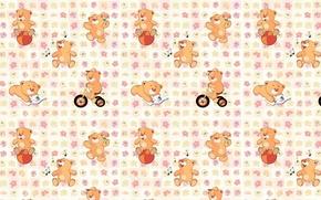 Picture background, texture, art, bear, children's