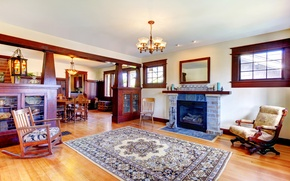 Picture design, photo, carpet, interior, chair, chandelier, fireplace, living room