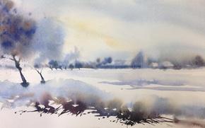 Picture picture, landscape, watercolor