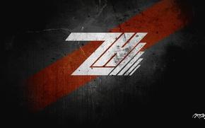 Picture portal, wallpaper, logo, creative, red., Hack'Z