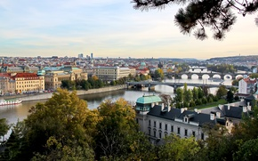 Picture landscape, Prague, Czech Republic, the urban landscape