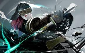 Picture rendering, sword, armor, art, samurai, male, nezag
