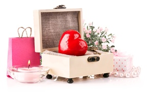 Picture Heart, Candles, Valentine's Day, Valentine's Day, Gifts