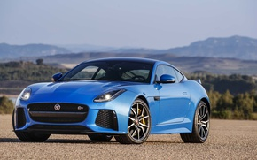 Picture Jaguar, Blue, Coupe, F-Type, SVR