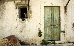Wallpaper the door, Koshak, 156, window, wall