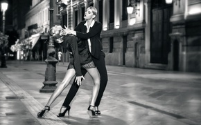 Picture girls, street, dance, Tango mi amor