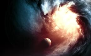 Picture light, planet, vortex