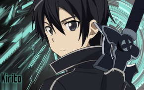 Picture wallpaper, sword, game, anime, boy, ken, blade, asian, player, manga, japanese, Sword Art Online, Kirito, …