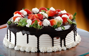 Wallpaper chocolate, glaze, Cake