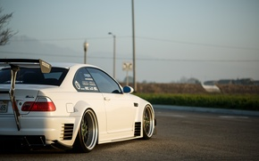 Picture BMW, E46, low, stance, Work, Wide, Work VS-XX, BellyScraper, Voltex, WideBody, GTR widebody