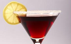 Picture lemon, glass, cocktail