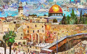Picture Jerusalem, Vik Muniz, Postcards from Nowhere, contemporary art