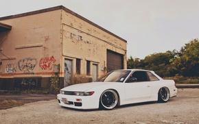 Picture house, graffiti, nissan, house, graffiti, Nissan, silvia, s13, Silvia