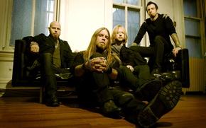 Picture sofa, group, men, band, nu metal, nu metal, Drowning Pool