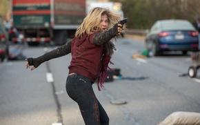 Picture Road, Gun, Postapokalipsis, Chaos, Chloe Grace Moretz, Chloe Grace Moretz, Cassie Sullivan, 5th wave, 5 …