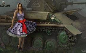 Picture girl, headlight, tank, girl, tanks, WoT, World of tanks, tank, World of Tanks, tanks, Wargaming.Net, …