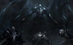 Picture darkness, diablo 3, monk, crusader, barbarian