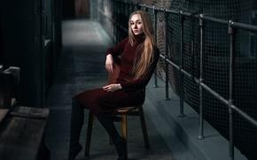 Picture dress, chair, Natasha, Max Kuzin