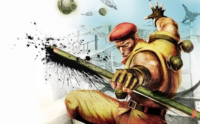 Picture game, fighter, capcom, rolento, ultra street fighter iv