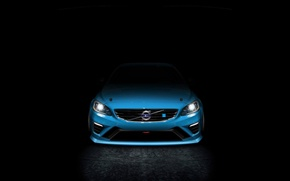 Picture blue, lights, art, s60, volvo, art, polestar