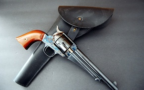Picture weapons, revolver, holster, Remington, 1875