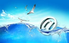 Picture the sky, water, Internet, art, Hi-Tech, e-mail