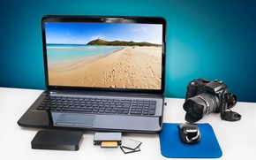 Picture memory, reader, the camera, laptop, computer, hi-tech, digital, sea, camera, touchpad, hard, technology, mouse, laptop, …