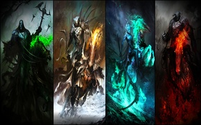 Picture the gods of hell, hell, evil riders, riders, Wallpaper