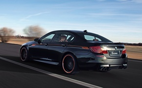 Picture bmw, black, tuning, f10, G power