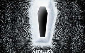 Picture the coffin, Metallica, pole, death magnetic