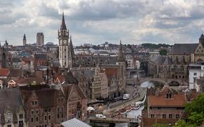 Picture building, Belgium, architecture, Gent, Flanders, Ghent