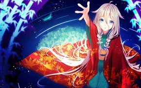 Picture water, girl, anime, art, braids, kimono, vocaloid, nekomaaro