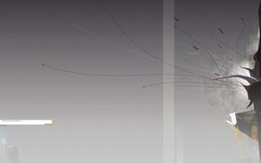 Wallpaper minimalism, gradient, line