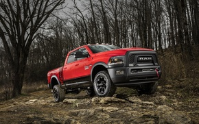Picture forest, stones, SUV, Dodge, pickup, Ram, 2500