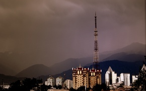 Picture mountains, home, Kazakhstan, Almaty