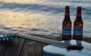 Picture music, guitar, beer