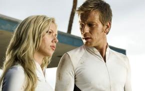 Picture girl, Island, actress, Scarlett Johansson, blonde, Scarlett Johansson, Ewan McGregor, Ewan McGregor, The Island