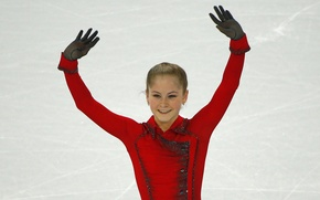 Picture smile, ice, beauty, Russia, Yulia Lipnitskaya, skater, champion, Yulia Lipnitskaya