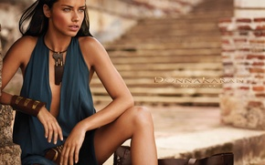 Picture girl, model, Adriana Lima, for Donna Karan