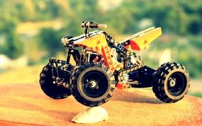 Picture orange, ATV, Lego