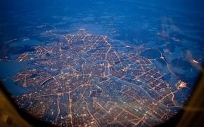 Wallpaper lights, Peter, night, Saint Petersburg, height