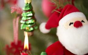 Wallpaper toy, santa, new year, christmas tree, new year, toy, tree, Christmas, Santa, christmas