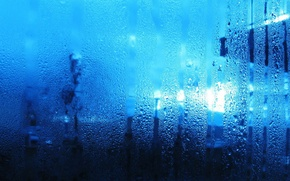 Picture glass, water, drops, moisture, couples, streaks