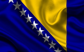 Picture Blue, Flag, Texture, Yellow, Stars, Bosnia and Herzegovina, Bosnia, Bosnia, Bosnia and Herzegovina, Federation of …