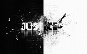 Picture style, the inscription, patterns, b/W, style, patterns, the word, 1920x1080, lettering, word, b&w, justice, justice