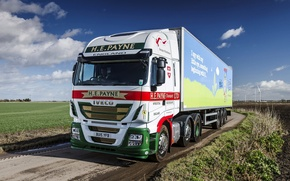 Wallpaper field, the sky, truck, the truck, UK-spec, 2013, 6x2, Iveco, machinery, Stralis Hi-Way 460