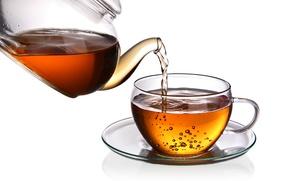 Picture bubbles, tea, Cup, drink, saucer, teapot