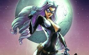 Picture the moon, Marvel Comics, Black cat, Black Cat, Felicia Hardy
