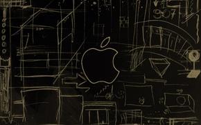 Picture figure, apple, Apple, logo, logotech