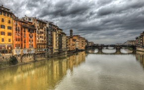 Picture water, bridge, city, the city, river, background, widescreen, Wallpaper, wallpaper, Florence, bridge, widescreen, background, full …